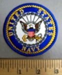 4778 R - United States Navy - Round - Embroidery Patch