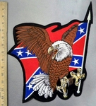 4790 S - American Eagle With Confederate Flag - Back Patch - Embroidery Patch