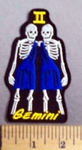 4791 CP - Skull Zodiac - Gemini - Embroidery Patch
