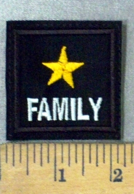 4792 L - Yellow Star - Family - Embroidery Patch