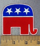 4794 CP - Republican Elephant - Embroidery Patch