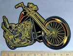 4801 G - Classic Motorcycle - Back Patch - Embroidery Patch