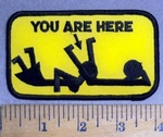 4814 S - Mans Sexual For Woman - You Are Here- Yellow - Embroidery Patch