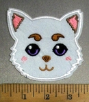 4824 C - Kitty Cat - White - Embroidery Patch