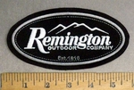 4836 L - Remington Gun Logo - Embroidery Patch