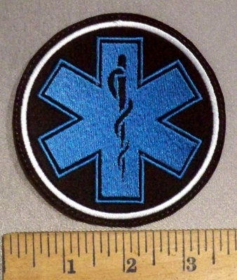 4838 L - EMT - Logo - Round - Embroidery Patch -