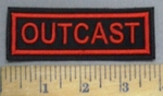 4845 L - Outcast - Red - Embroidery Patch