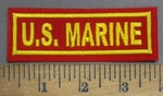 4852 L - U.S. Marine - Red With Yellow Letters - Embroidery Patch