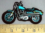 4867 C - Light Blue Motorcycle - Embroidery Patch