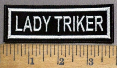 4870 L - Lady Triker - White - Embroidery Patch