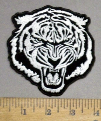 4892 CP -  Roaring White Tiger - Embroidery Patch