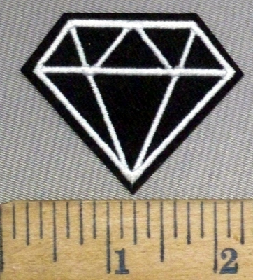 4900 C - Silver Diamond - Embroidery Patch