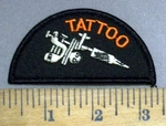 4902 S - Tattoo - Picture Of Tattoo Gun - Embroidery Patch