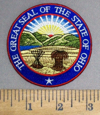 4903 C - The Great Seal Of The State Of Ohio - Round - Embroidery Patch