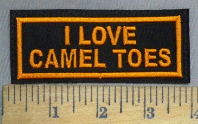 4908 L - I Love Camel Toes - Embroidery Patch