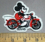 4916 C - Mickey Mouse Riding Motorcycle - Embroidery Patch