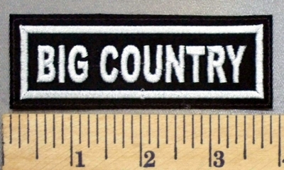 4930 L - Big Country - Embroidery Patch