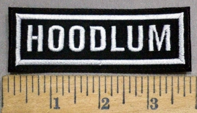 4936 L - Hoodlum - White - Embroidery Patch