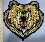 4938 G - Heart Shaped Grizzly Bear - Back Patch - Embroidery Patch