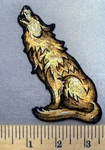 4955 G - Howling Wolf - Embroidery Patch