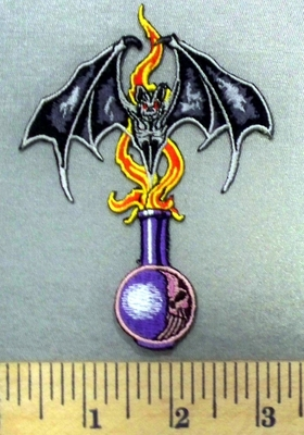4959 N - Black Bat With Magic Potion Bottle - Embroidery