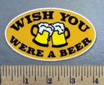4960 G - Wish You Were A Beer - 2 Mugs Of Beer - Embroidery Patch