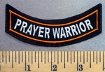 4963 L - Prayer Warrior Mini Bottom Rocker - Embroidery Patch
