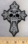 4964 CP - Celtic Cross With Skull - Embropidery Patch