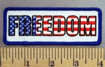 4976 G - Freedom In American Flag Design - Embroidery Patch