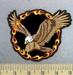 4978 N - Flying Eagle With Ring Of Fire - Embroidery Patch