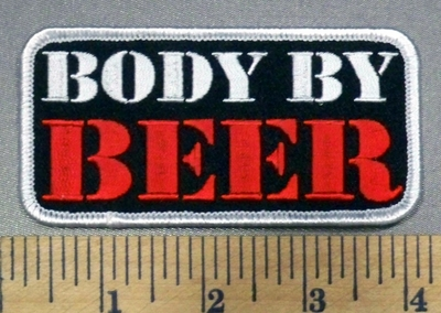 4983 G - Body By Beer - Embroidery Patch