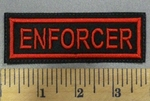 4988 L - Enforcer - Red - Embroidery Patch