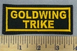 4992 L - Goldwing Trike - Gold - Embroidery Patch