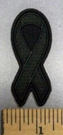 4994 CP - Black Ribbon - Awareness Ribbon For Lost Soldiers - Embroidery Patch