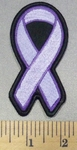 5001 S - Light Purple Ribbon - Lupus - Fibromyalgia - Religious Tolerance - Cystic Fibrosis - Embroidery Patch
