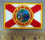 5008 C - Florida State Seal Flag - Embroidery Patch