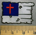 5025 CP - Tattered Christian Flag - Embroidery Patch