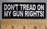 5028 CP - Don't Tread On My Guns Rights! - Embroidery Patch
