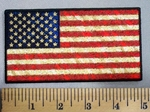 5034 G - Antique Looking American Flag - Embroidery Patch