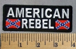 5035 CP - American Rebel - Two Confederate Flags - Embroidery Patch