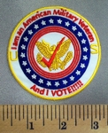 5038 CP - I Am An American Military  Veteran AND I VOTE! - Round - Embroidery Patch