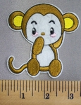 5042 C - Cartoon Style Baby Monkey - Embroidery Patch