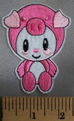 5043 C - Cartoon Style Baby Pig - Embroidery Patch