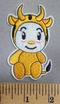 5046 C - Cartoon Style Baby Cow - Embroidery Patch