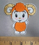 5049 C - Cartoon Style Baby Ram - Embroidery Patch