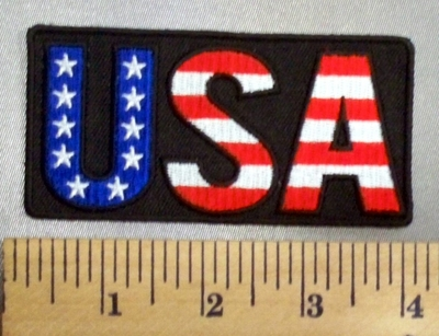5053 G - U S A - American Flag - Embroidery Patch