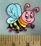 5057 C - Cartoon Style Multi Colored Bumblebee - Embroidery Patch