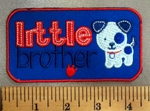 5059 C - Little Brother - Red - White - Blue - Embroidery Patch