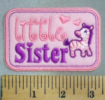 5061 C - Little Sister - Pink - Embroidery Patch