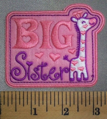 5062 C - Big Sister - Pink - Embroidery Patch